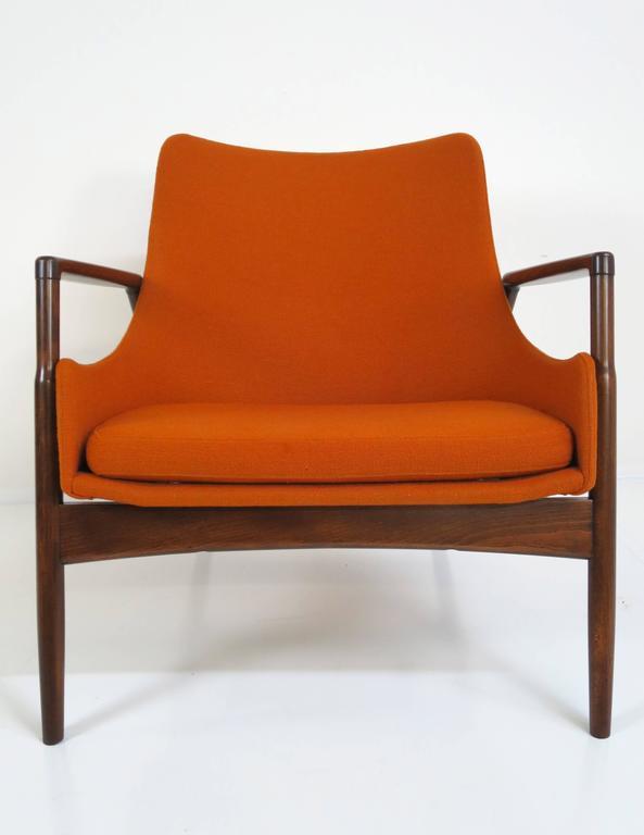 Danish Rare Ib Kofod-Larsen Lounge Chair and Ottoman for Selig For Sale