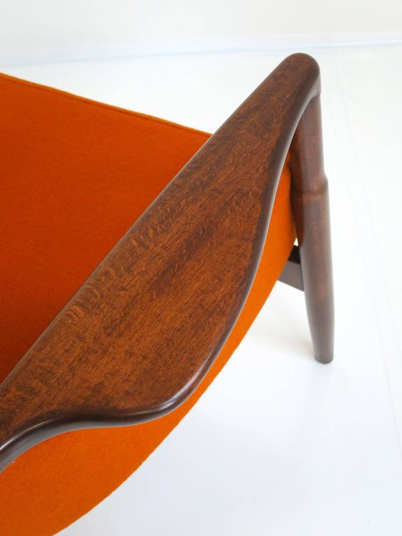 Mid-20th Century Rare Ib Kofod-Larsen Lounge Chair and Ottoman for Selig For Sale