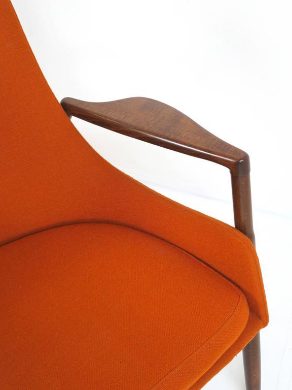 Rare Ib Kofod-Larsen Lounge Chair and Ottoman for Selig For Sale 1