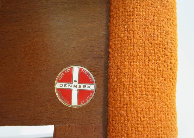 Rare Ib Kofod-Larsen Lounge Chair and Ottoman for Selig For Sale 4