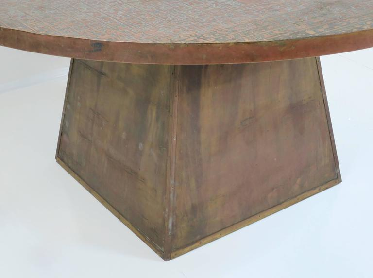 Rare Pharoah Table by Philip and Kelvin LaVerne For Sale 1