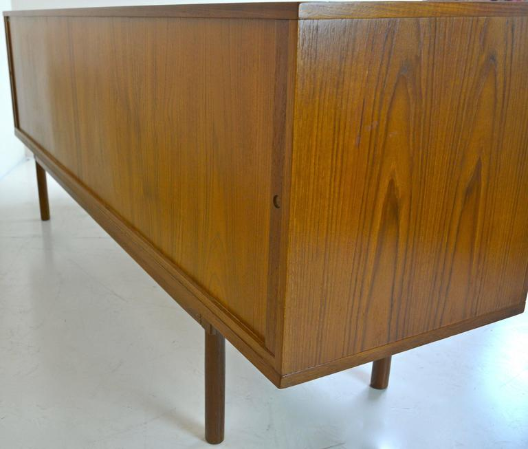 Tambour Credenza in Teak by Jens Harald Quistgaard for Lovig For Sale 2