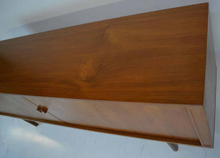Tambour Credenza in Teak by Jens Harald Quistgaard for Lovig For Sale 1