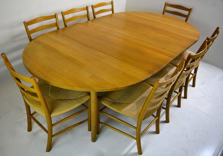 Set of Eight Kaare Klint Dining Chairs for Fritz Hansen, Denmark For Sale 4
