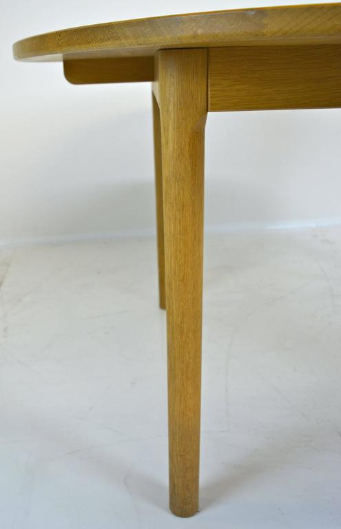 Oak Hans Wegner for Ry Mobler Dining Table For Sale