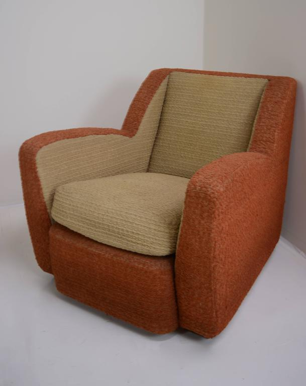 Pair of Italian Club Chairs, circa 1940s For Sale 1