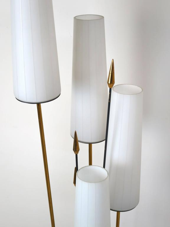 Mid-Century Modern French Low Floor Lamp in the Manner of Maison Arlus For Sale
