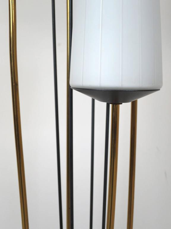 French Low Floor Lamp in the Manner of Maison Arlus In Excellent Condition For Sale In San Diego, CA