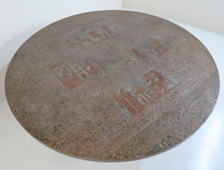 Rare Pharoah Table by Philip and Kelvin LaVerne For Sale 2
