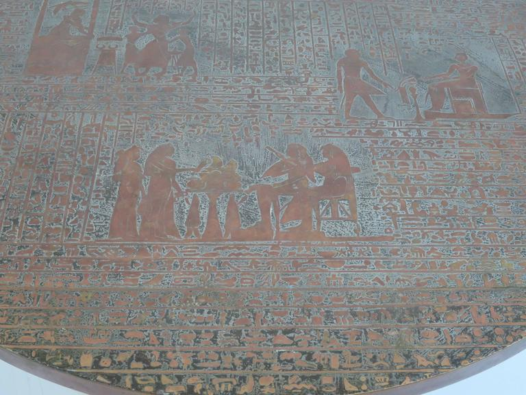 Rare Pharoah Table by Philip and Kelvin LaVerne For Sale 5