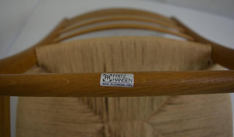 Set of Eight Kaare Klint Dining Chairs for Fritz Hansen, Denmark For Sale 5