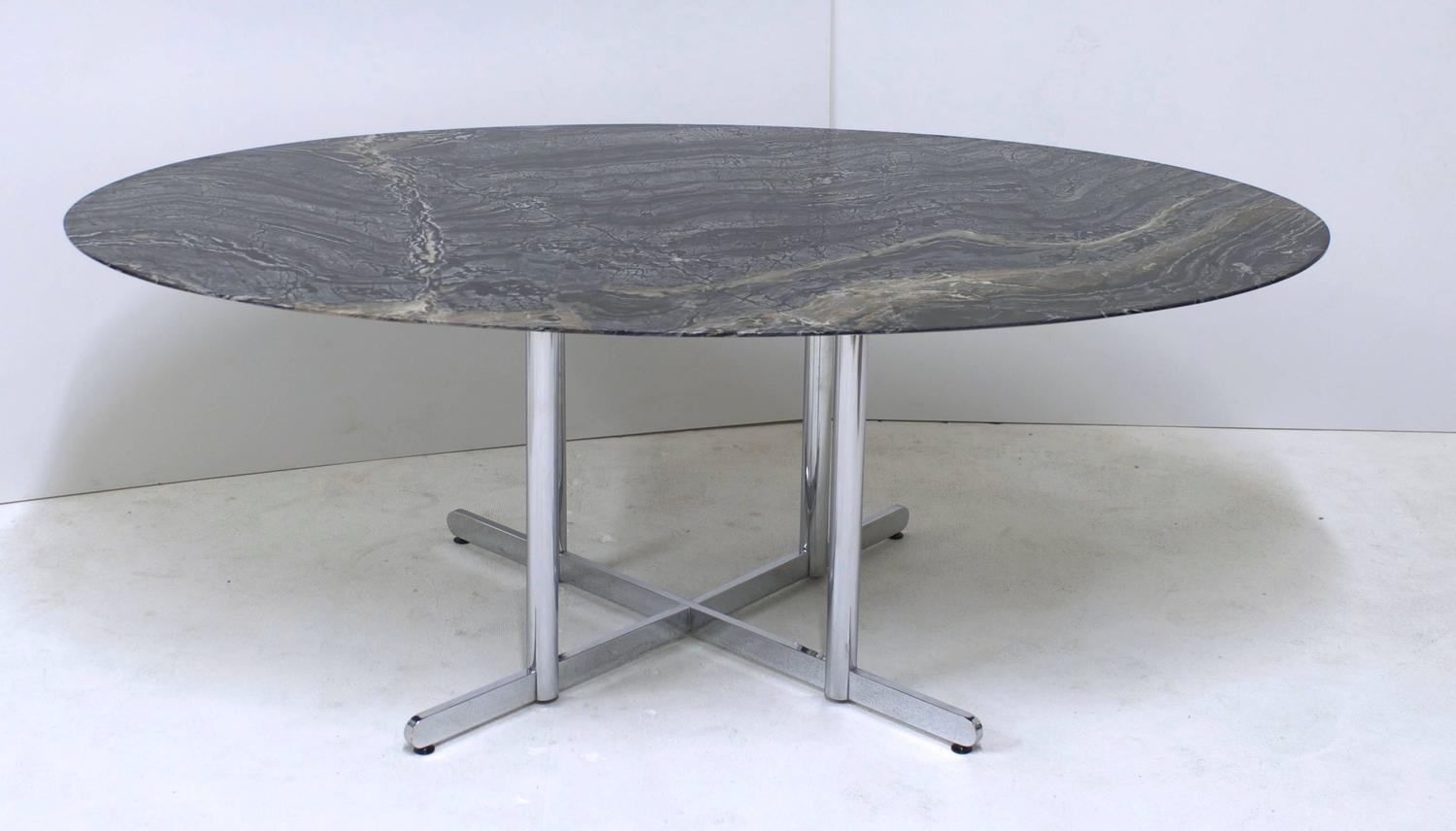 Oval Marble Dining Table Or Desk For Sale At 1stdibs