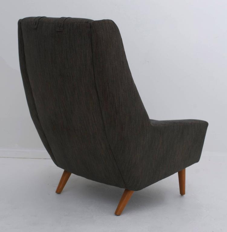 Scandinavian Modern High Back Lounge Chair At 1stdibs