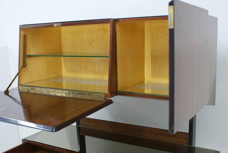 Mid-Century Modern Dassi Italian Bar Cabinet For Sale