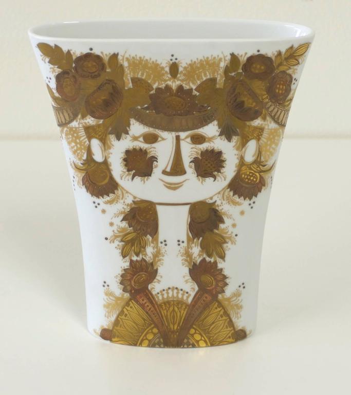 Large Rosenthal Bjorn Wiinblad Studio Line Vase At 1stdibs