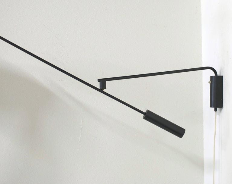 counterbalanced french wall mounted swing arm lamp for sale at 1stdibs. Black Bedroom Furniture Sets. Home Design Ideas