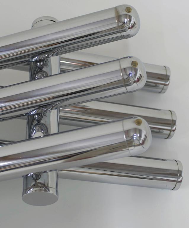 Tubular Chrome Coffee Table: Smoked Grey Glass And Chrome Tubular Steel Coffee Table