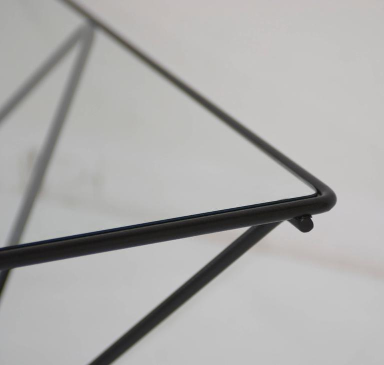 Black Metal And Glass Cocktail Table In The Style Of Paolo Piva B B Italia At 1stdibs