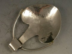 Early 20th Century Arts & Crafts Heart Shaped Silver Caddy Spoon, A E Jones 1915