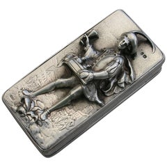 George IV Silver 'Pedlar' Snuff Box by John Linnit, London, 1823