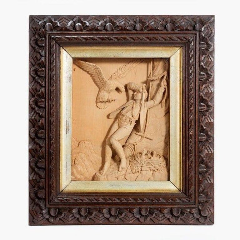 Pair of Carved Lime Wood Pictures