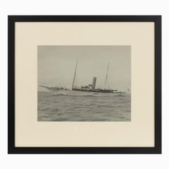 Early Silver Gelatin Photographic Print of the Sailing Yacht Venessa