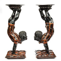 19th Century Exceptional Venetian Blackamoor Side Tables
