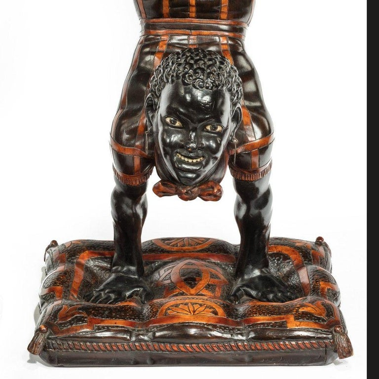19th Century Exceptional Venetian Blackamoor Side Tables In Good Condition For Sale In Lymington, Hampshire