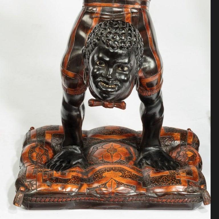 Mid-19th Century 19th Century Exceptional Venetian Blackamoor Side Tables For Sale