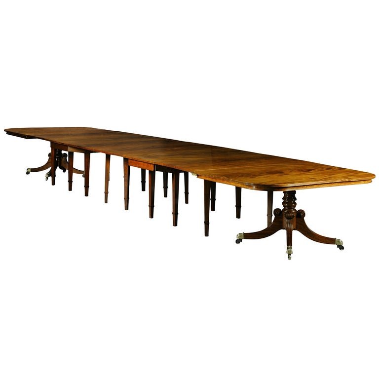 Regency Mahogany Dining Table from Durham Cathedral For Sale