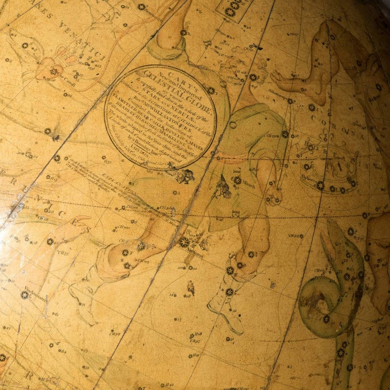 English Pair of Cary's Terrestrial and Celestial Library Globes For Sale