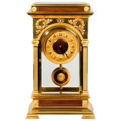 Rectangular Four-Glass Ormolu Mantel Clock