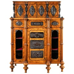 Superb Quality Burr Walnut Antique Cabinet
