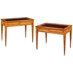 Pair of English Kingwood Display Tables in the French Taste
