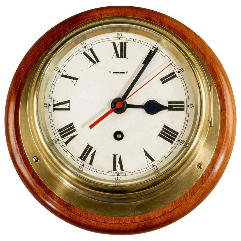 "7 3/4 ""Dial Smith's Astral Ship's Bulkhead Clock For Sale"