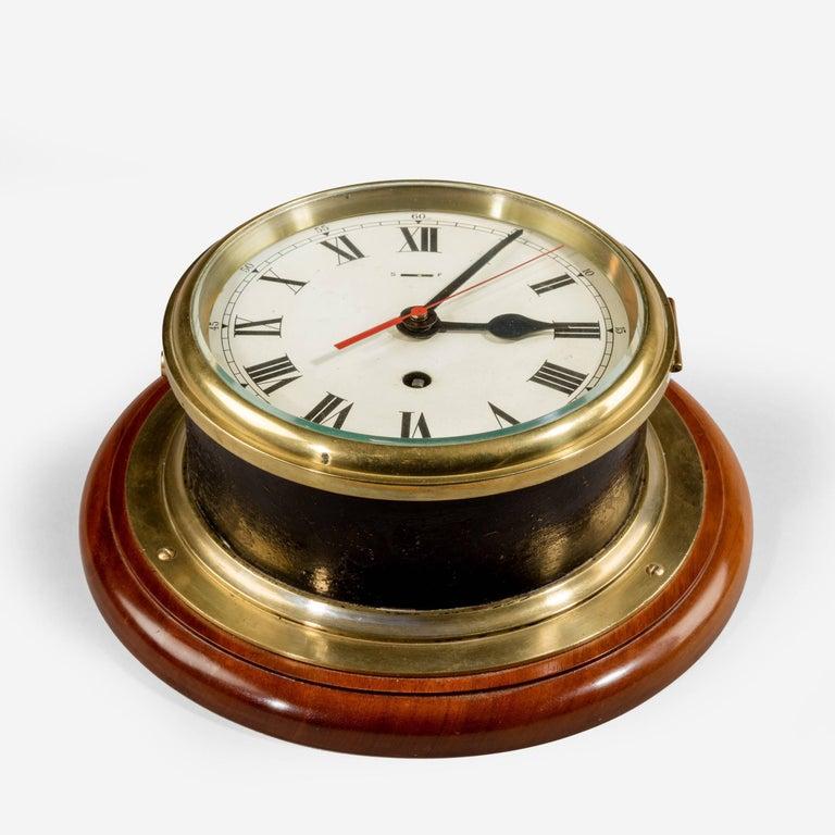 English Smith's Astral Ship's Bulkhead Clock For Sale