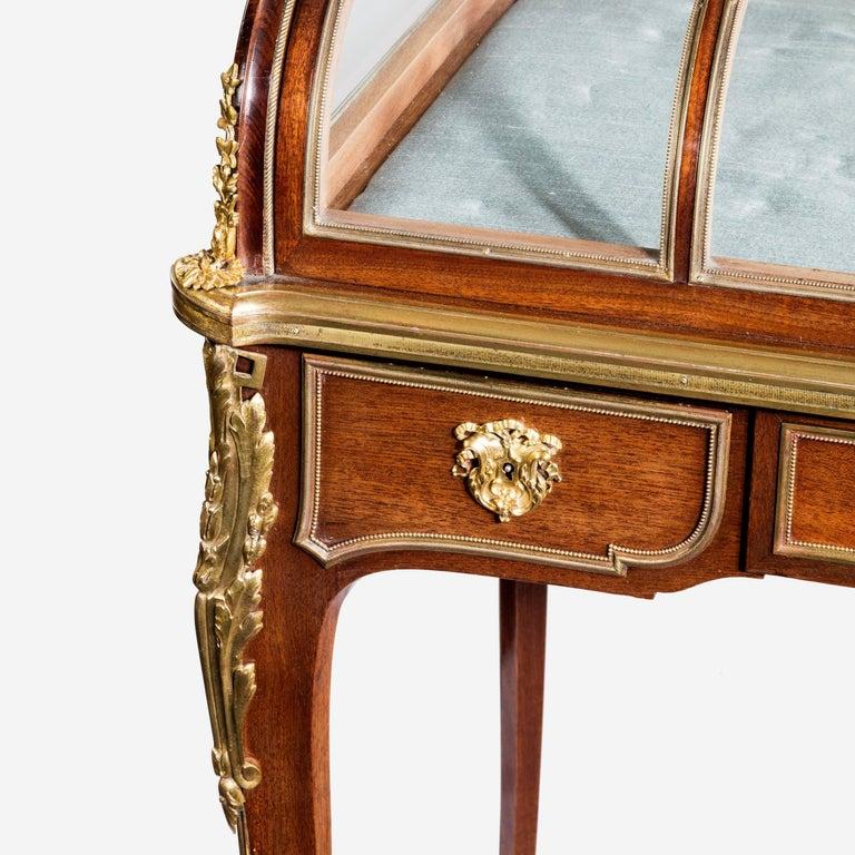 French Napoleon III Mahogany Display Table For Sale
