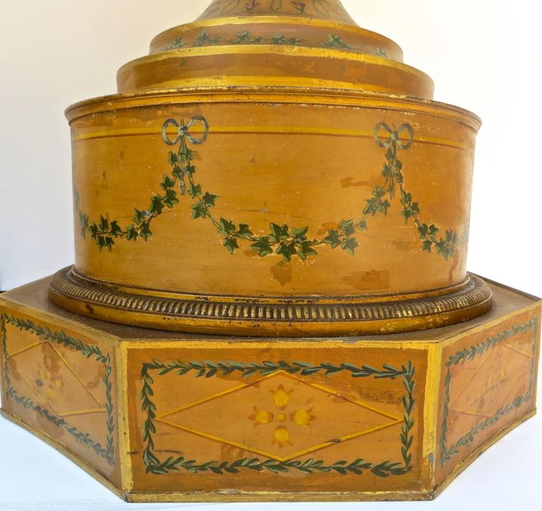 Pair of 19th Century Urns 'Japanned Tole and Copper' For Sale 4