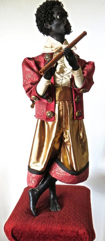 "Hand-Crafted ""Ethiopian Flutist"" French Musical Automaton by Gustave Vichy, circa 1870s For Sale"
