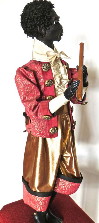 """Ethiopian Flutist"" French Musical Automaton by Gustave Vichy, circa 1870s In Excellent Condition For Sale In Incline Village, NV"