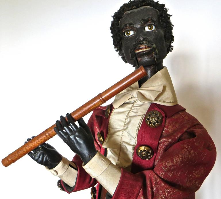 "Composition ""Ethiopian Flutist"" French Musical Automaton by Gustave Vichy, circa 1870s For Sale"