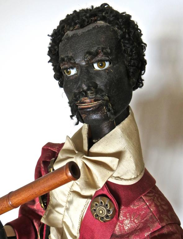 """Ethiopian Flutist"" French Musical Automaton by Gustave Vichy, circa 1870s For Sale 1"