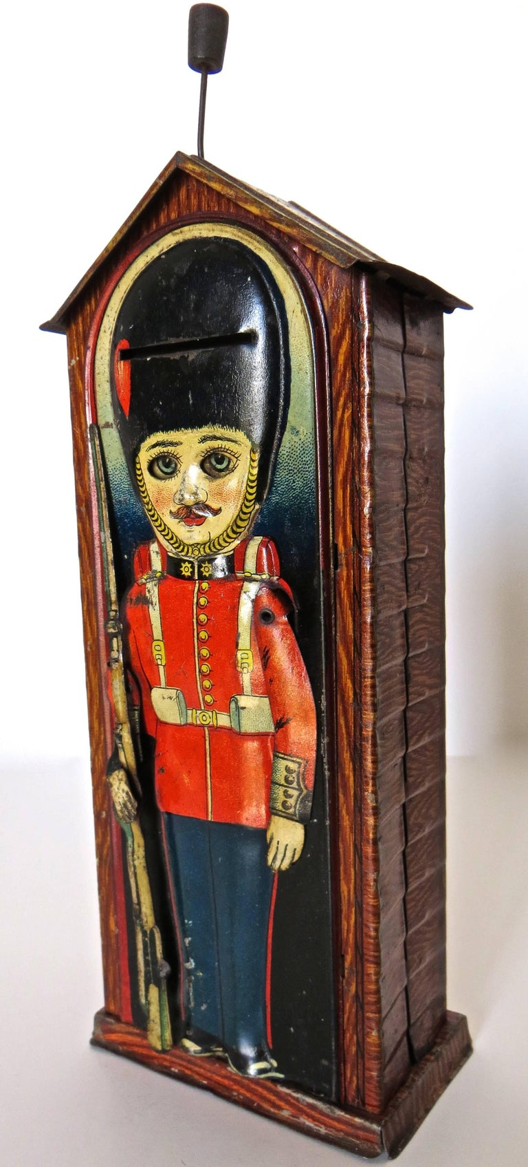 Mechanical Bank 'Sentry', circa 1925 In Good Condition For Sale In Incline Village, NV