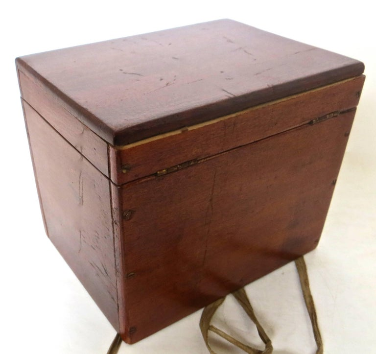 Magician's Trick Double Wood Boxes with Ties, circa 1890 In Excellent Condition For Sale In Incline Village, NV