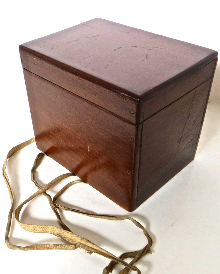 Magician's Trick Double Wood Boxes with Ties, circa 1890 For Sale 2
