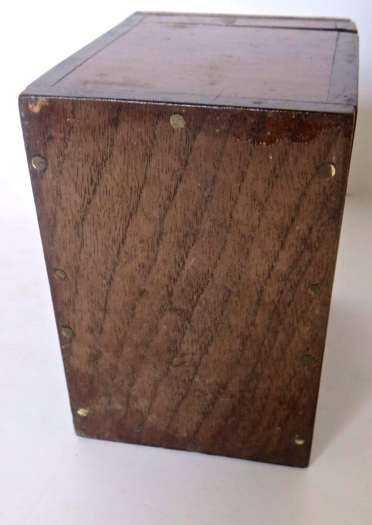 Hand-Crafted Magician's Trick Double Wood Boxes with Ties, circa 1890 For Sale