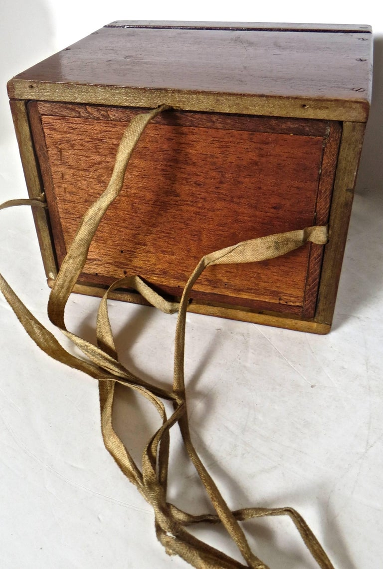 American Magician's Trick Double Wood Boxes with Ties, circa 1890 For Sale