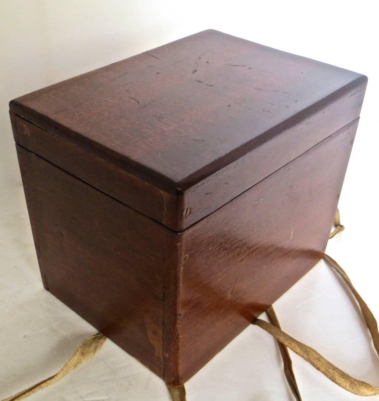 Magician's Trick Double Wood Boxes with Ties, circa 1890 For Sale 3