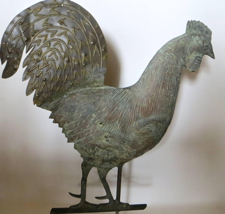 19th Century, Rooster Weathervane, American In Excellent Condition For Sale In Incline Village, NV