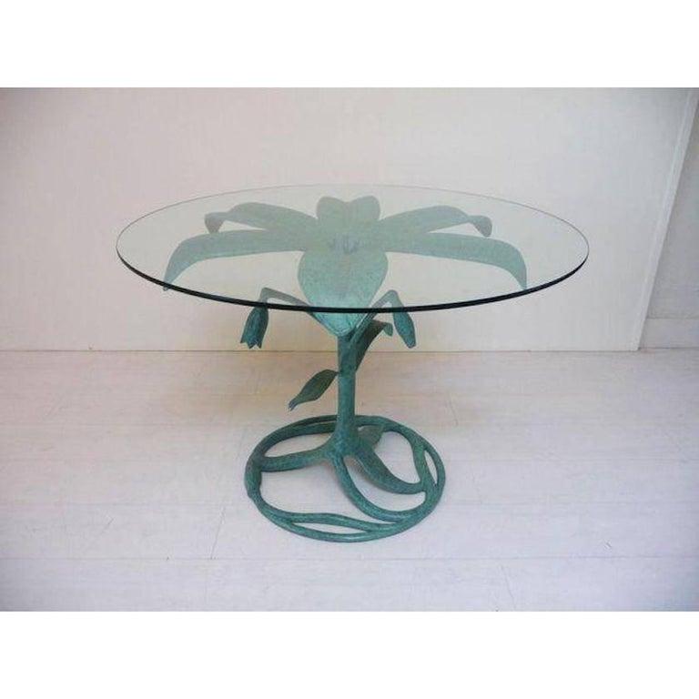 Verdigris Arthur Court Lily Dining Table For Garden Or